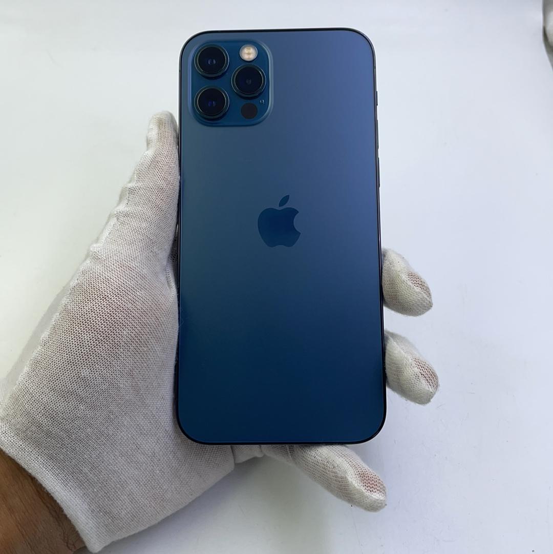 苹果【iPhone 12 Pro】5G全网通 海蓝色 128G 国行 8成新