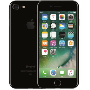 苹果【iPhone 7】全网通 亮黑色 128G 国行 7成新 真机实拍