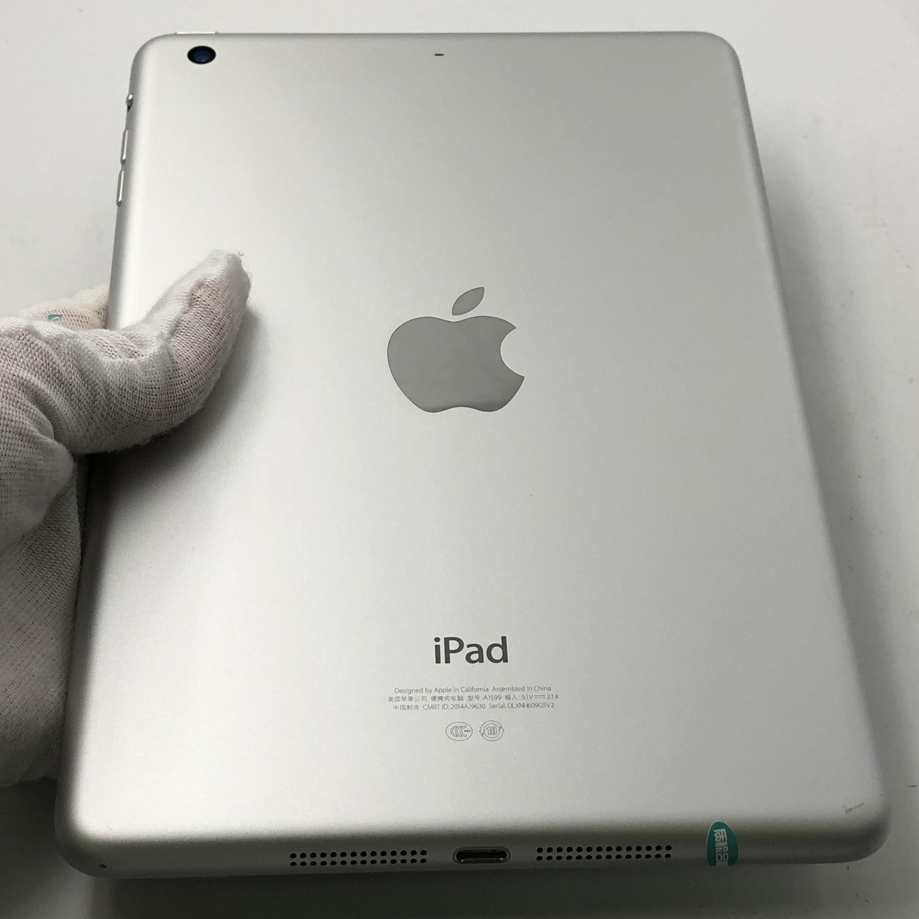 苹果【iPad mini 3】WIFI版 银色 16G 国行 8成新