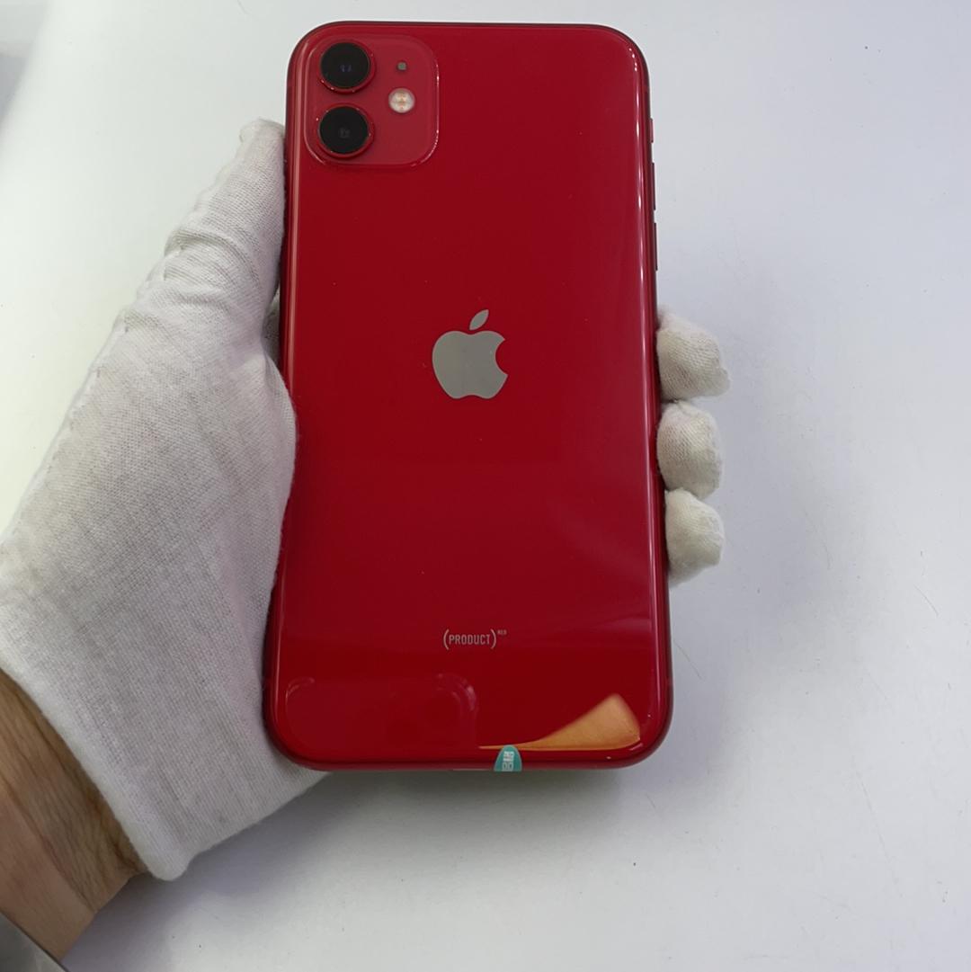 苹果【iPhone 11】4G全网通 红色 128G 国行 8成新