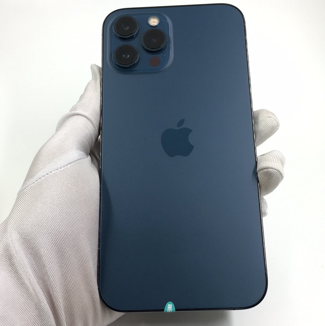 苹果【iPhone 12 Pro Max】5G全网通 海蓝色 256G 国行 9成新 256G真机实拍