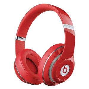 Beats 魔声【Studio2 头戴有线版】95成新  红色国行官换全新耳机
