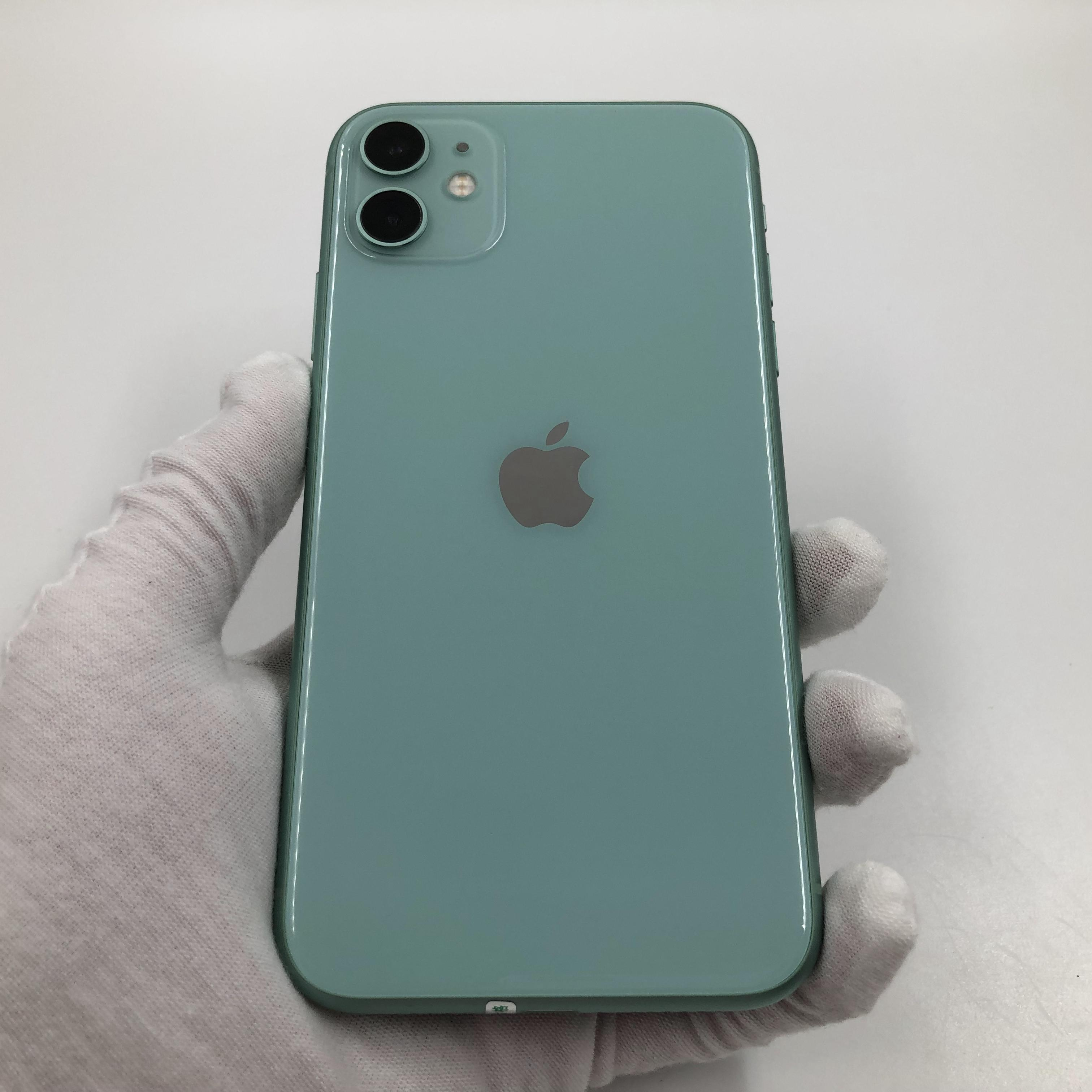 苹果【iPhone 11】4G全网通 绿色 256G 国行 9成新 真机实拍