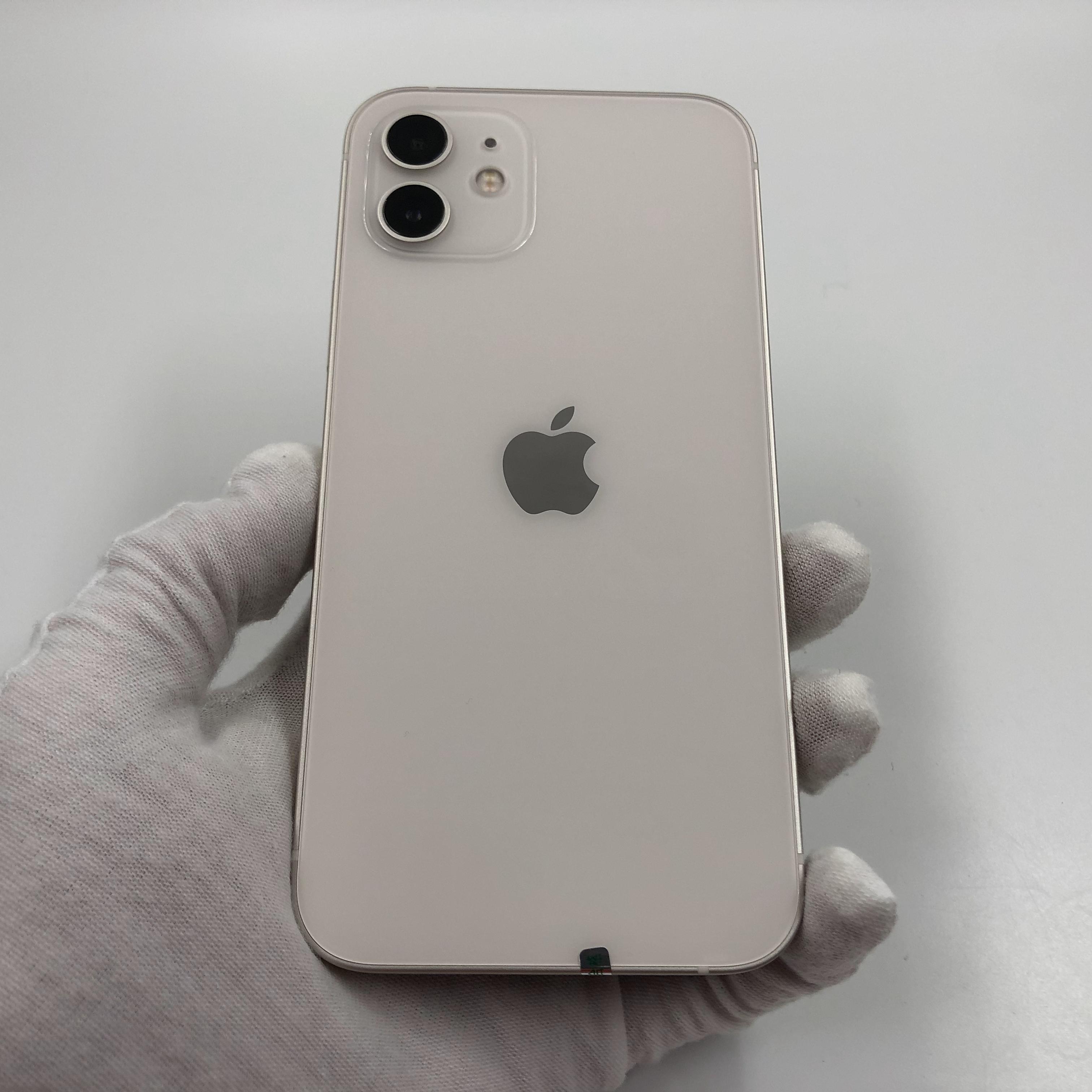苹果【iPhone 12】5G全网通 白色 64G 国行 99新 真机实拍官保2022-07-01