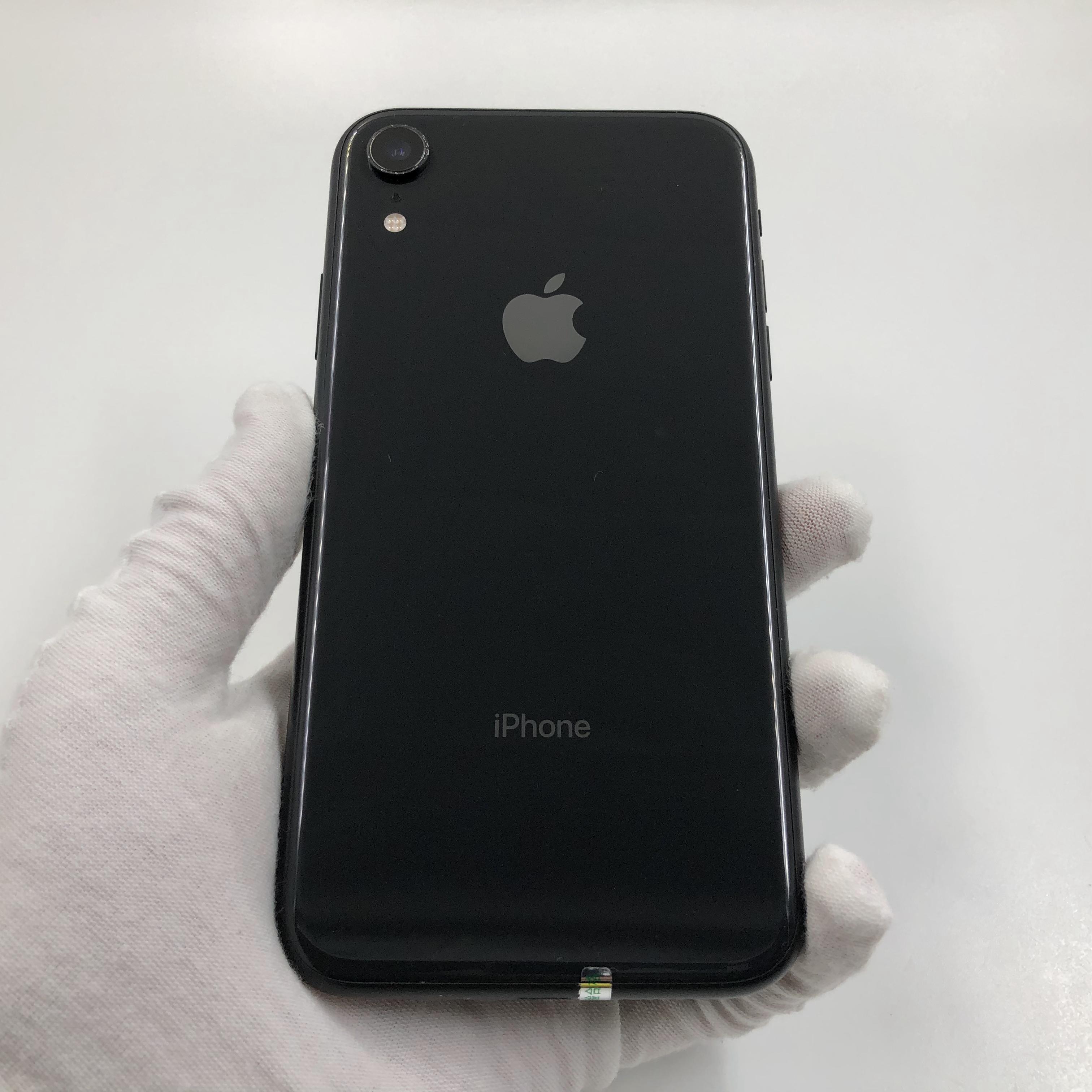 苹果【iPhone XR】4G全网通 黑色 64G 国行 8成新 真机实拍