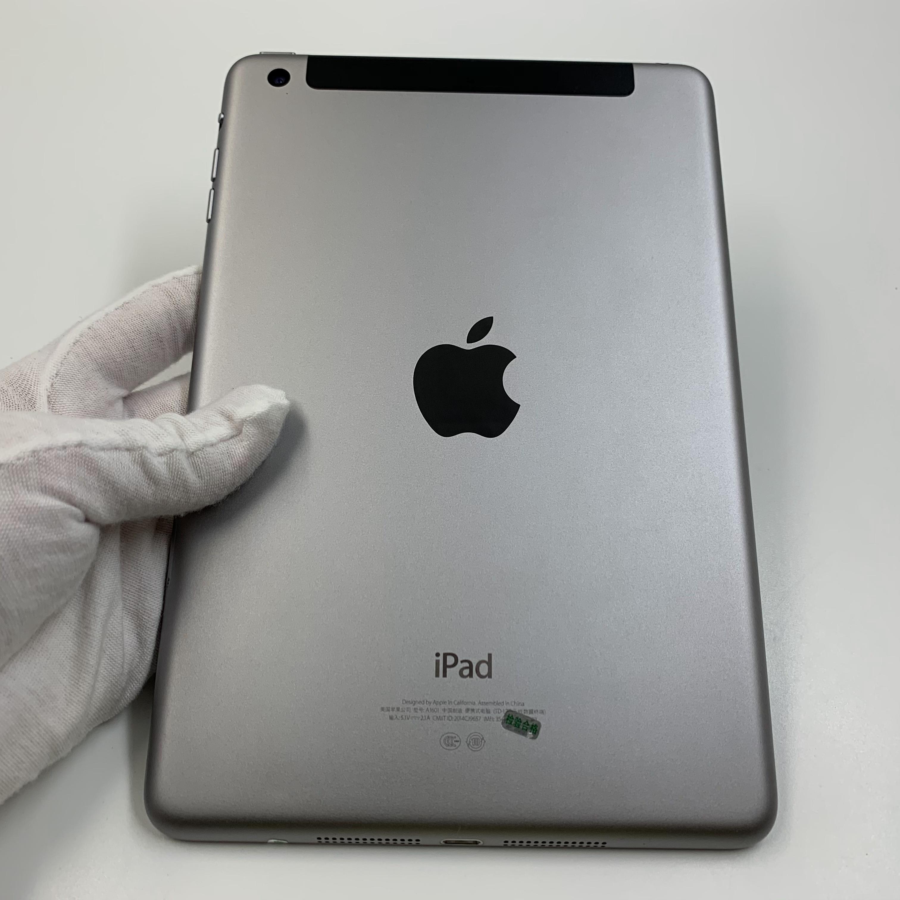 苹果【iPad mini 3】4G全网通 深空灰 128G 国行 8成新 真机实拍4G+WIFI版