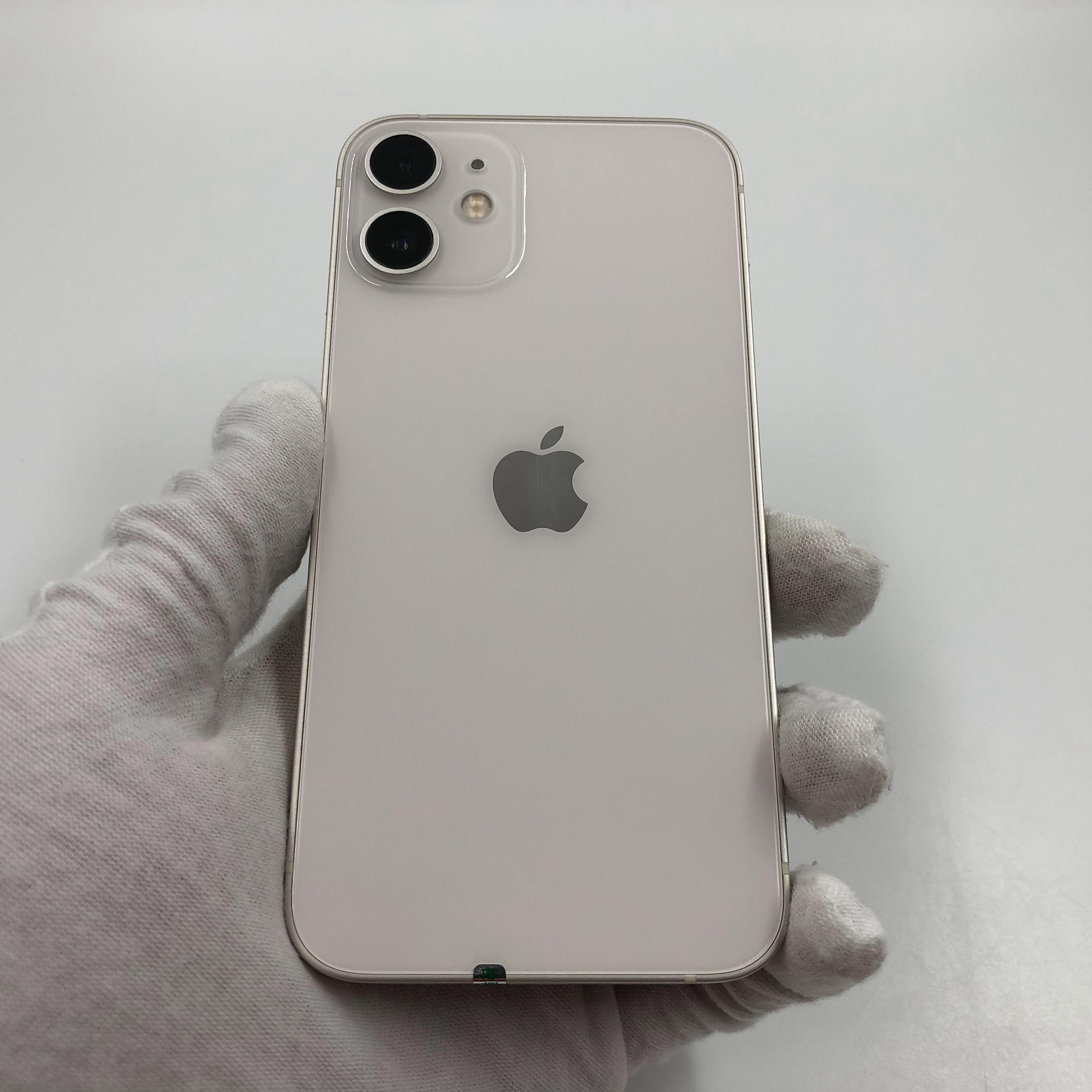 苹果【iPhone 12 mini】5G全网通 白色 128G 国行 8成新 真机实拍官保2022-01-24