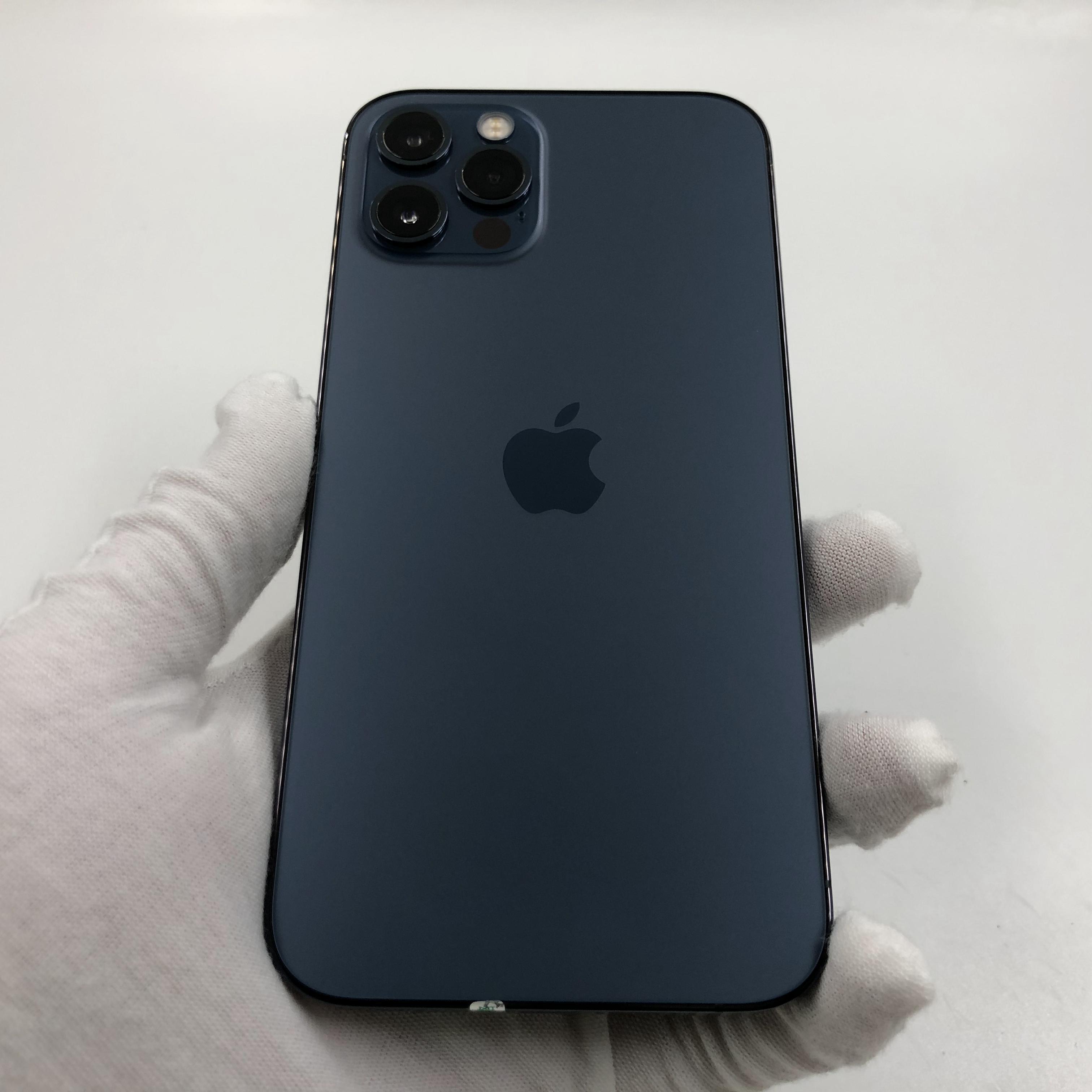 苹果【iPhone 12 Pro】5G全网通 海蓝色 256G 国行 95新 真机实拍官保2022-04-03