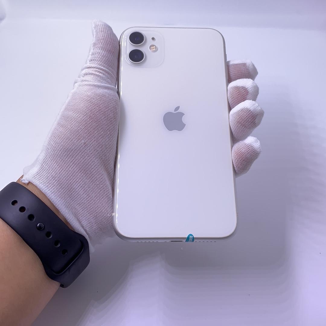 苹果【iPhone 11】全网通 白色 128G 国行 8成新