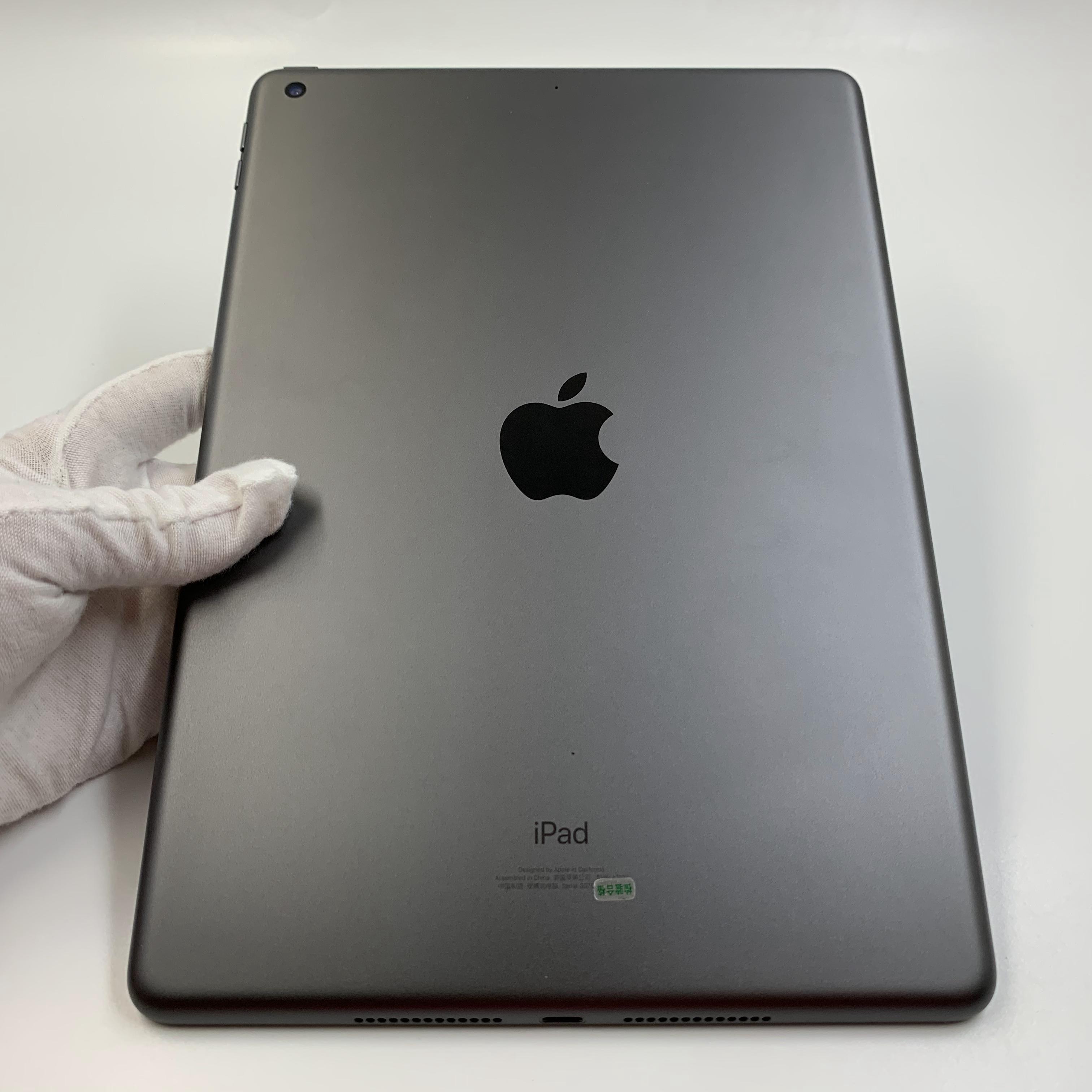 苹果【iPad 2019款10.2英寸】WIFI版 深空灰 128G 国行 99新 真机实拍官保2021-07-22