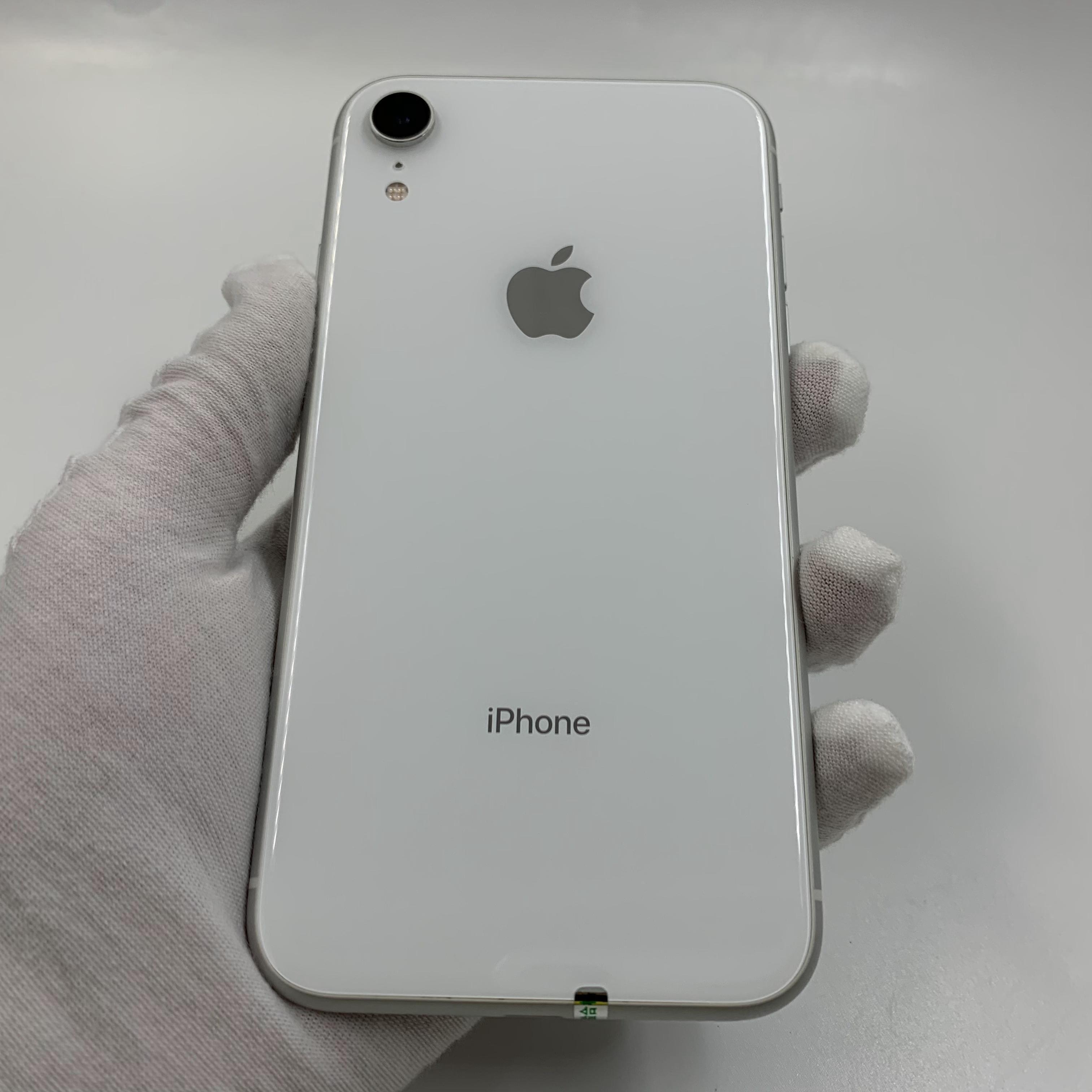 苹果【iPhone XR】4G全网通 白色 128G 国行 9成新 真机实拍