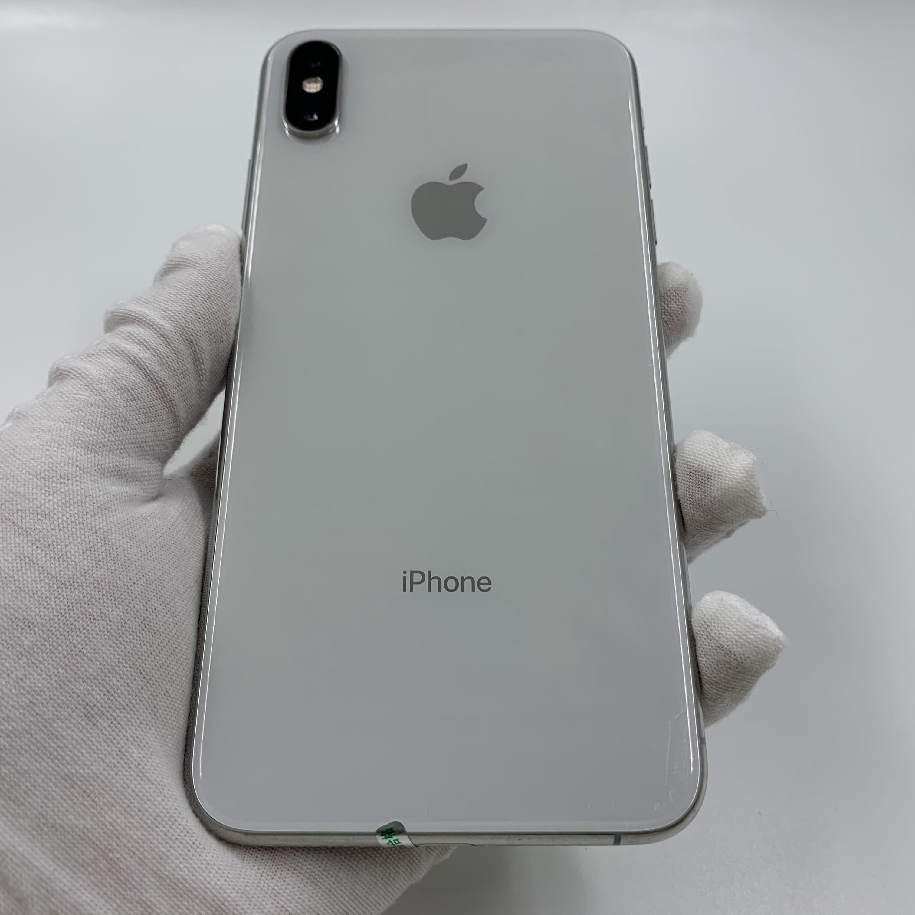 苹果【iPhone Xs Max】4G全网通 银色 64G 国行 8成新 真机实拍