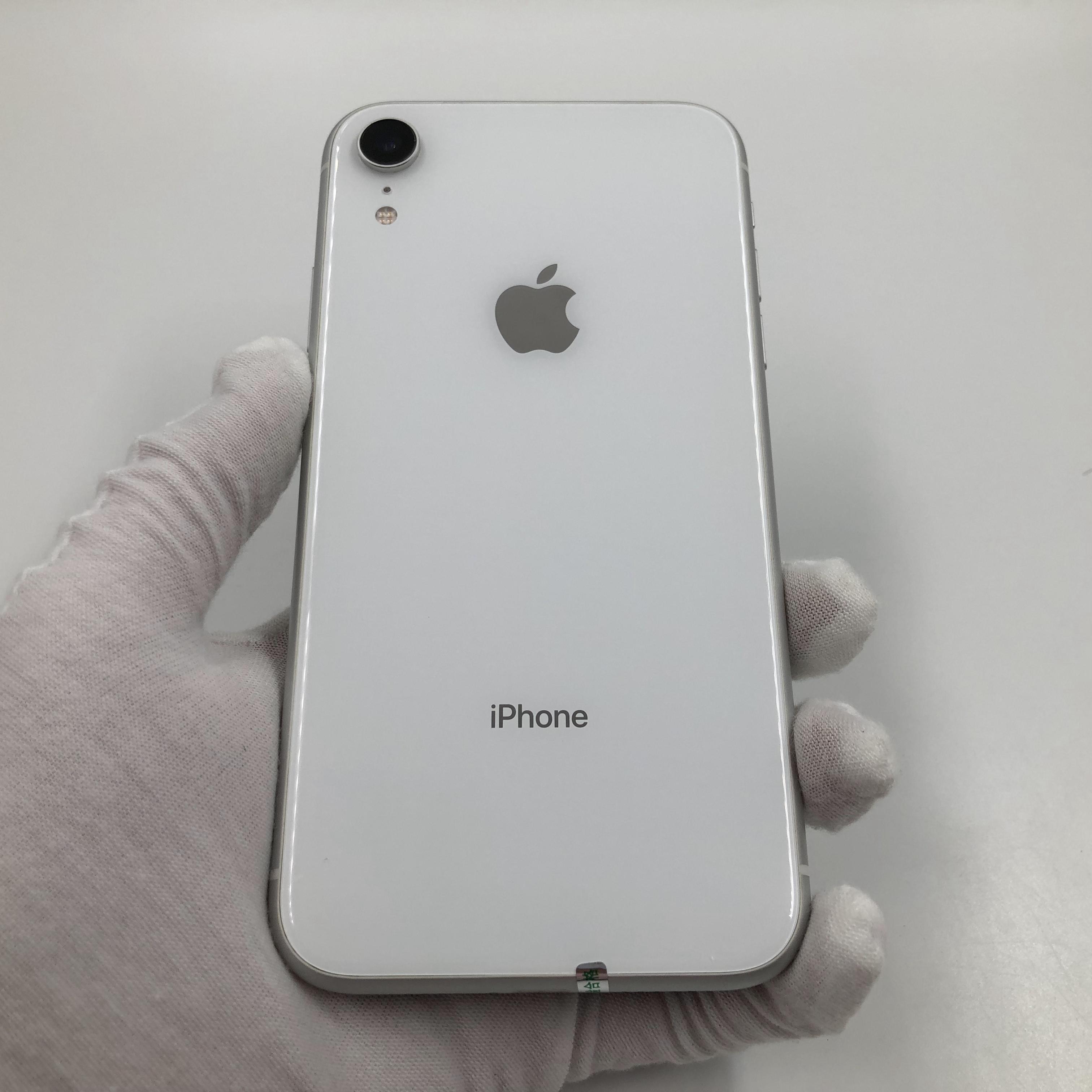 苹果【iPhone XR】移动 4G/3G/2G 白色 128G 国行 9成新 真机实拍