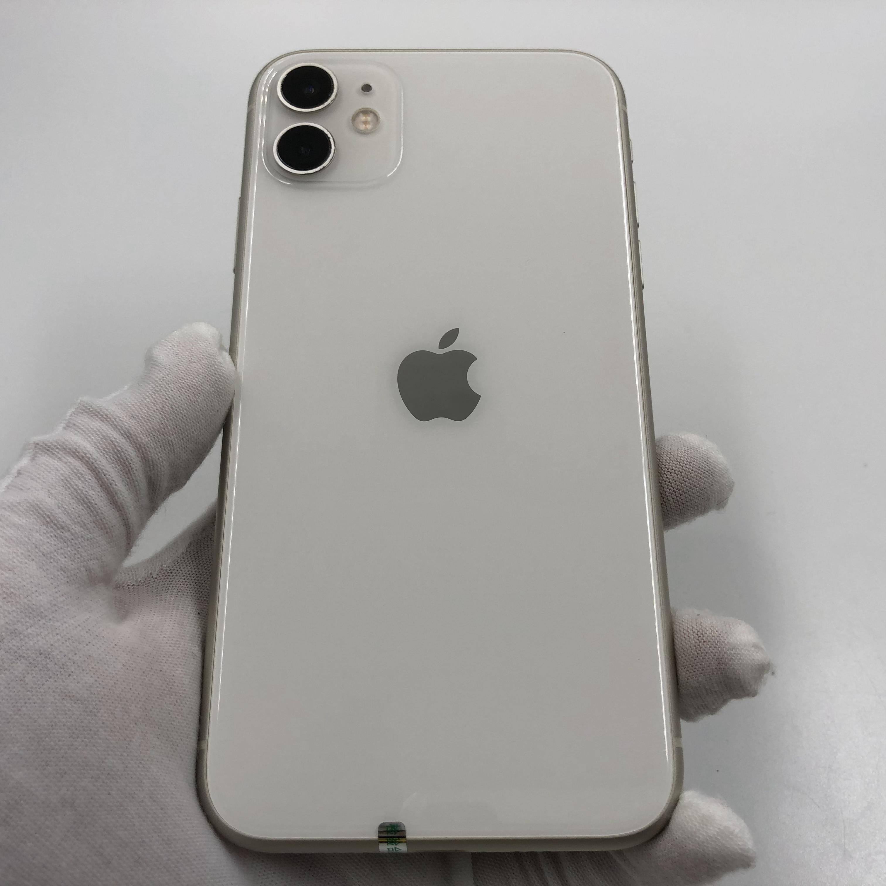 苹果【iPhone 11】4G全网通 白色 128G 国行 95新 真机实拍