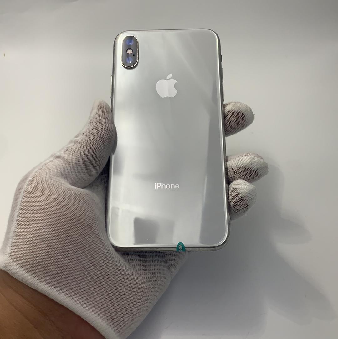 苹果【iPhone X】全网通 银色 256G 国行 8成新
