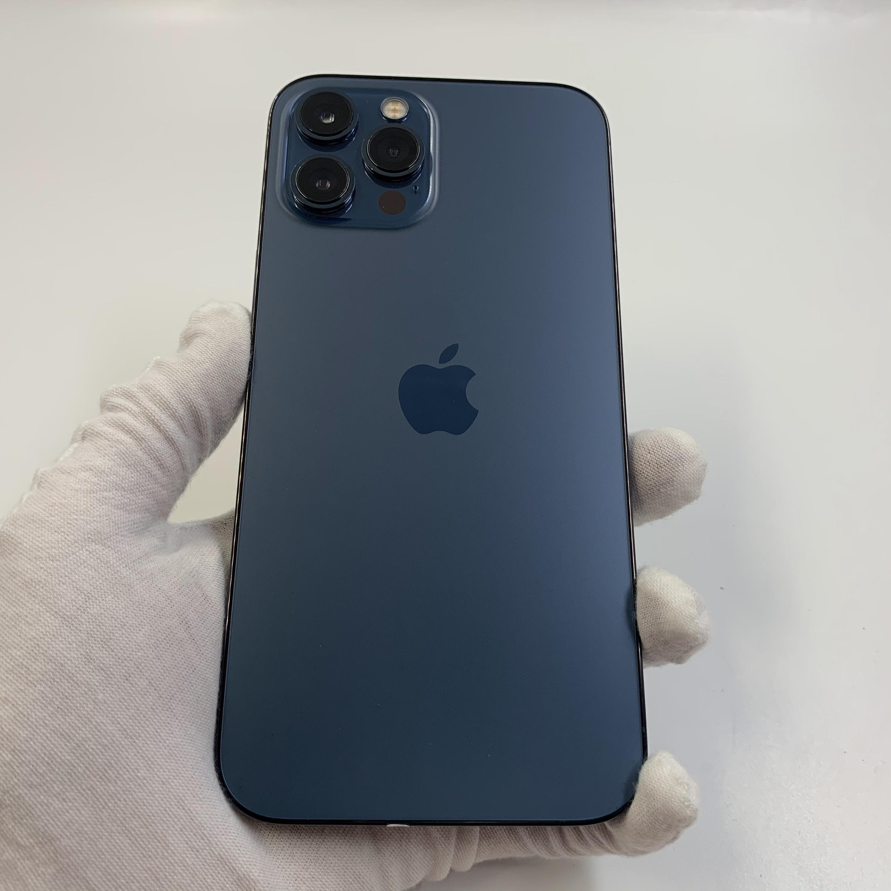 苹果【iPhone 12 Pro Max】5G全网通 海蓝色 256G 国行 8成新 真机实拍官保2021-11-27