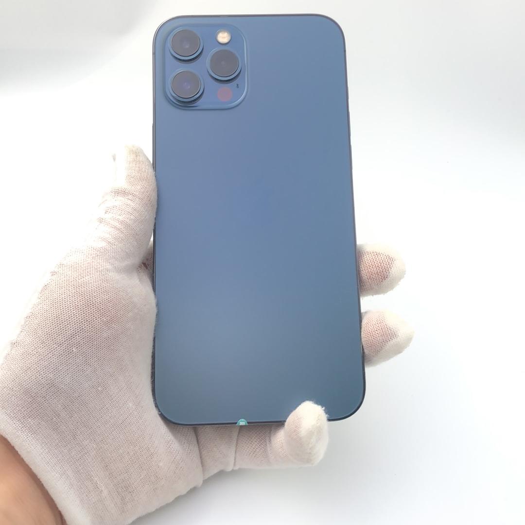 苹果【iPhone 12 Pro Max】5G全网通 海蓝色 256G 国行 9成新