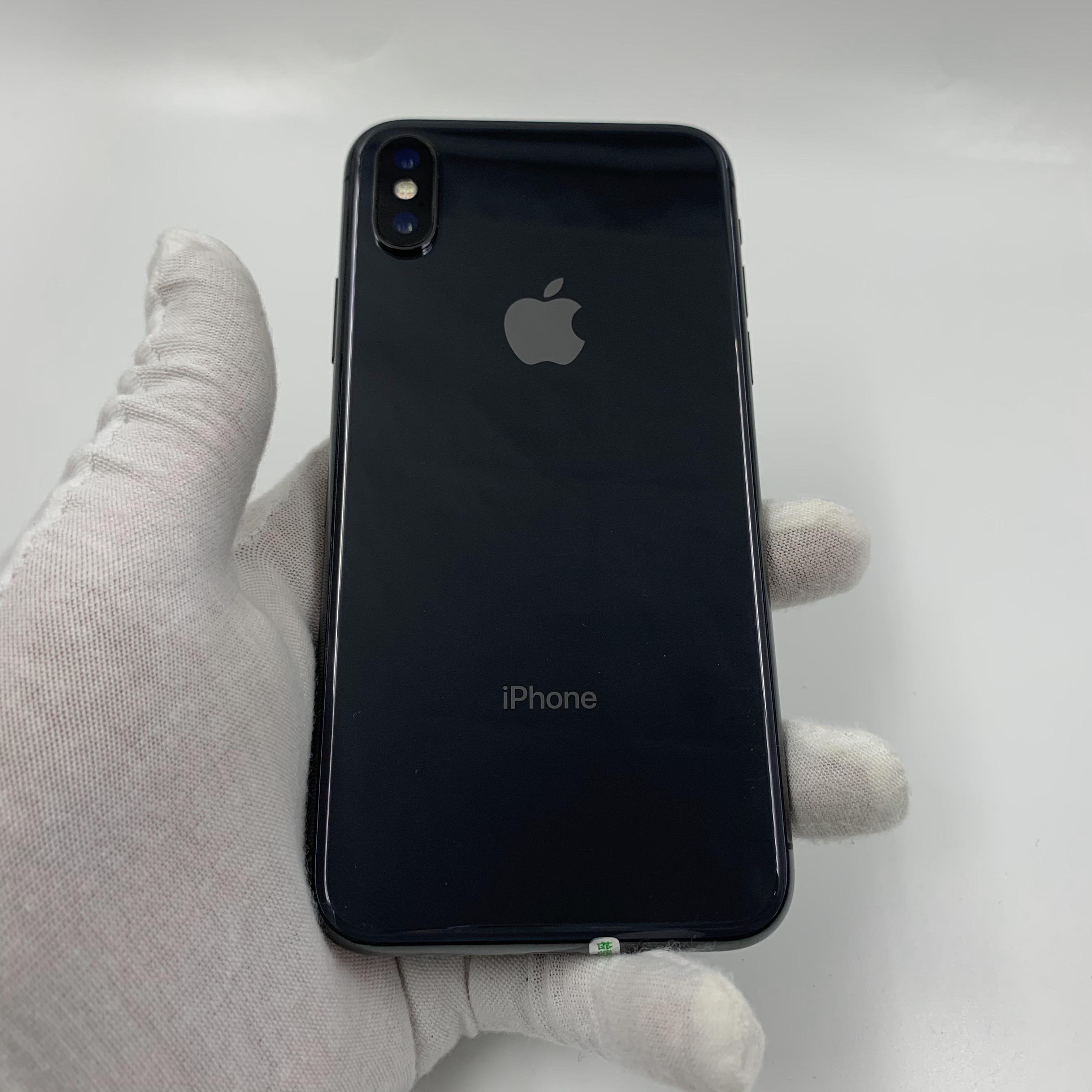 苹果【iPhone X】4G全网通 深空灰 64G 国行 95新 真机实拍