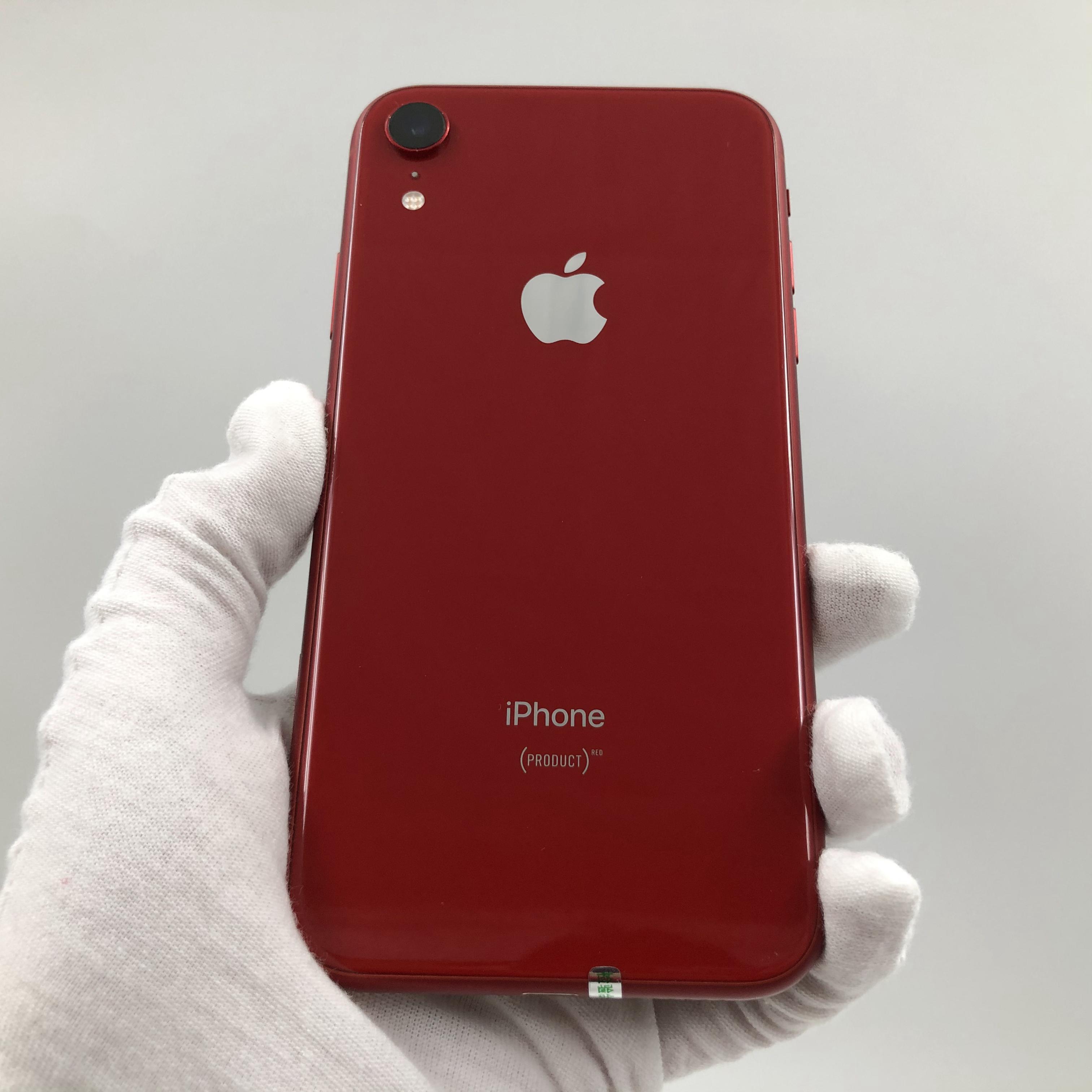 苹果【iPhone XR】4G全网通 红色 128G 国行 8成新 真机实拍