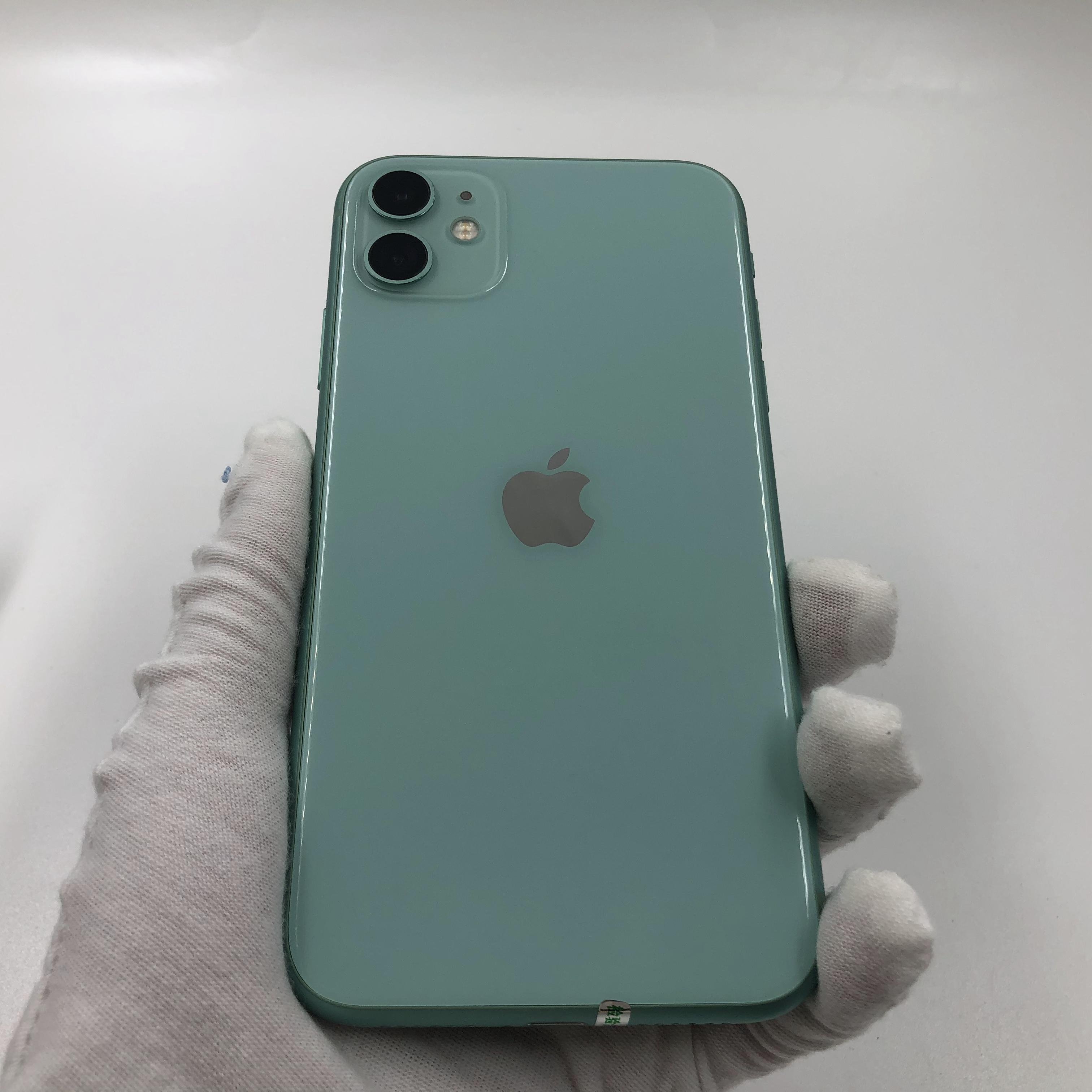 苹果【iPhone 11】4G全网通 绿色 64G 国行 8成新 真机实拍保修2021-10-09