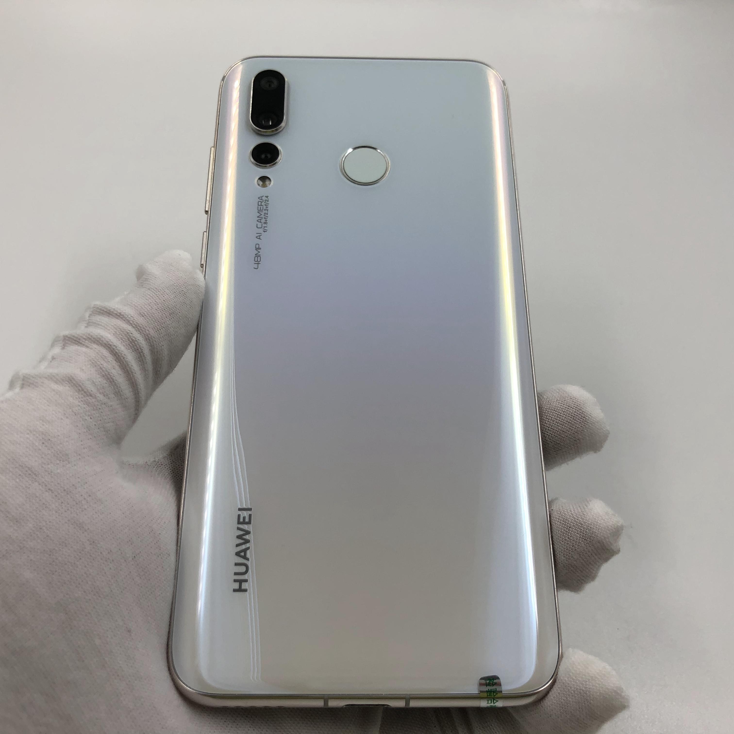 华为【nova 4 高配】4G全网通 白色 8G/128G 国行 8成新 真机实拍