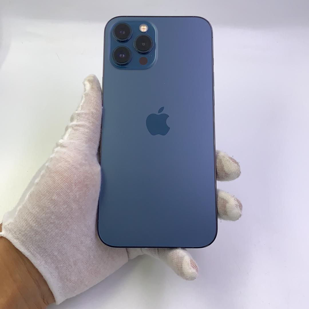 苹果【iPhone 12 Pro Max】5G全网通 海蓝色 128G 国行 95新