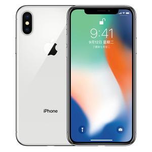 苹果【iPhone X】移动联通 4G/3G/2G 银色 256G 国际版 9成新