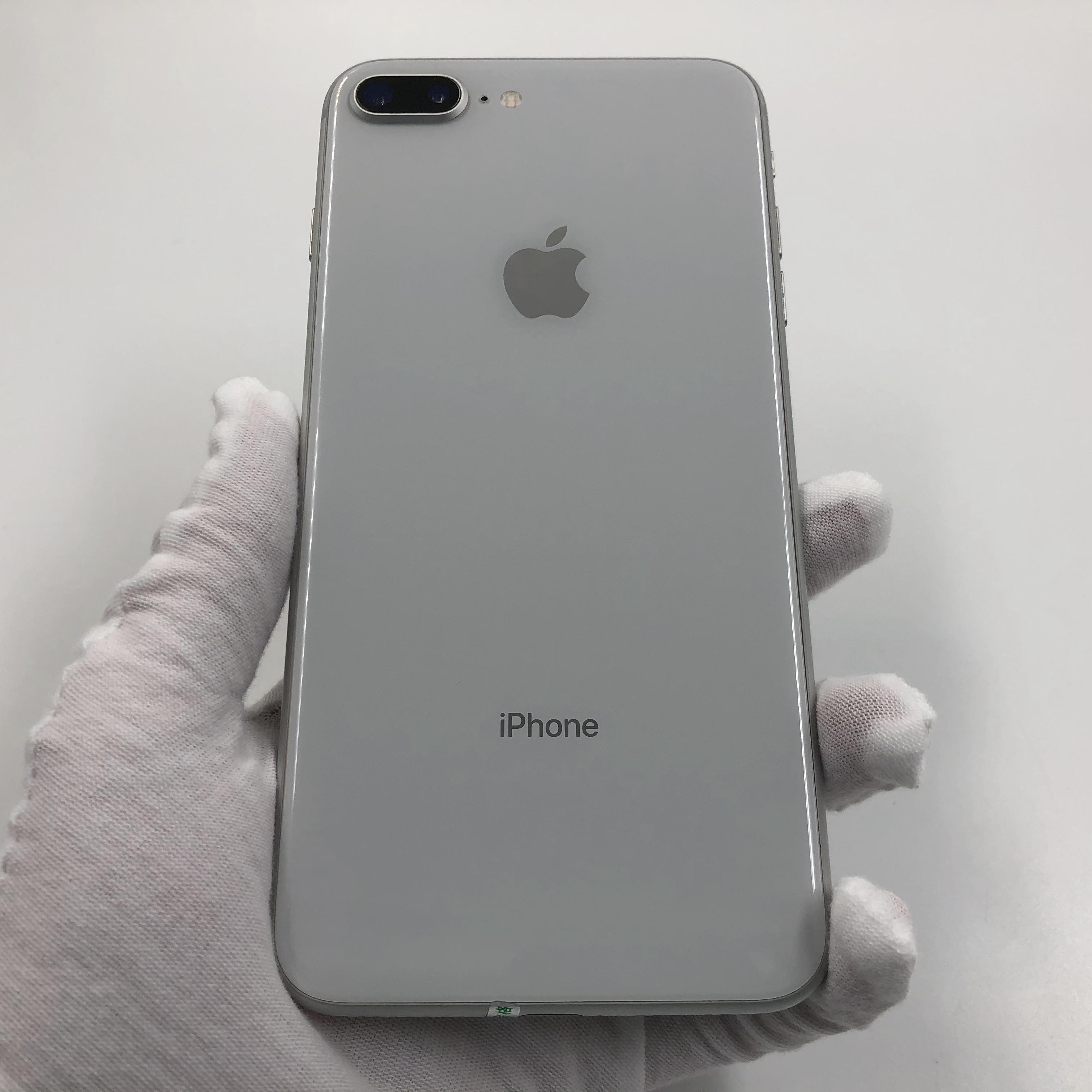 苹果【iPhone 8 Plus】4G全网通 银色 64G 国行 8成新 真机实拍
