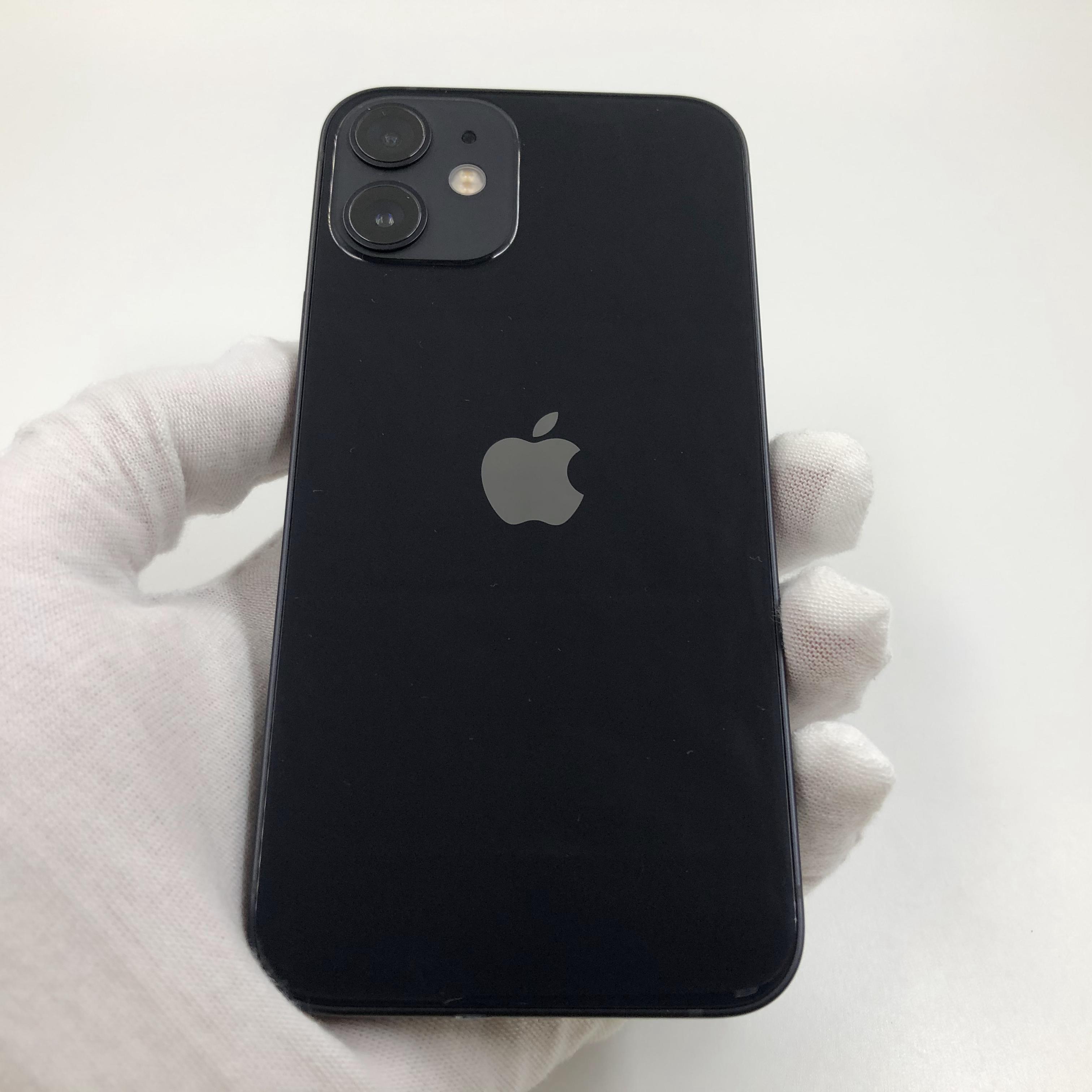 苹果【iPhone 12 mini】5G全网通 黑色 128G 国行 9成新 真机实拍官保2022-01-01