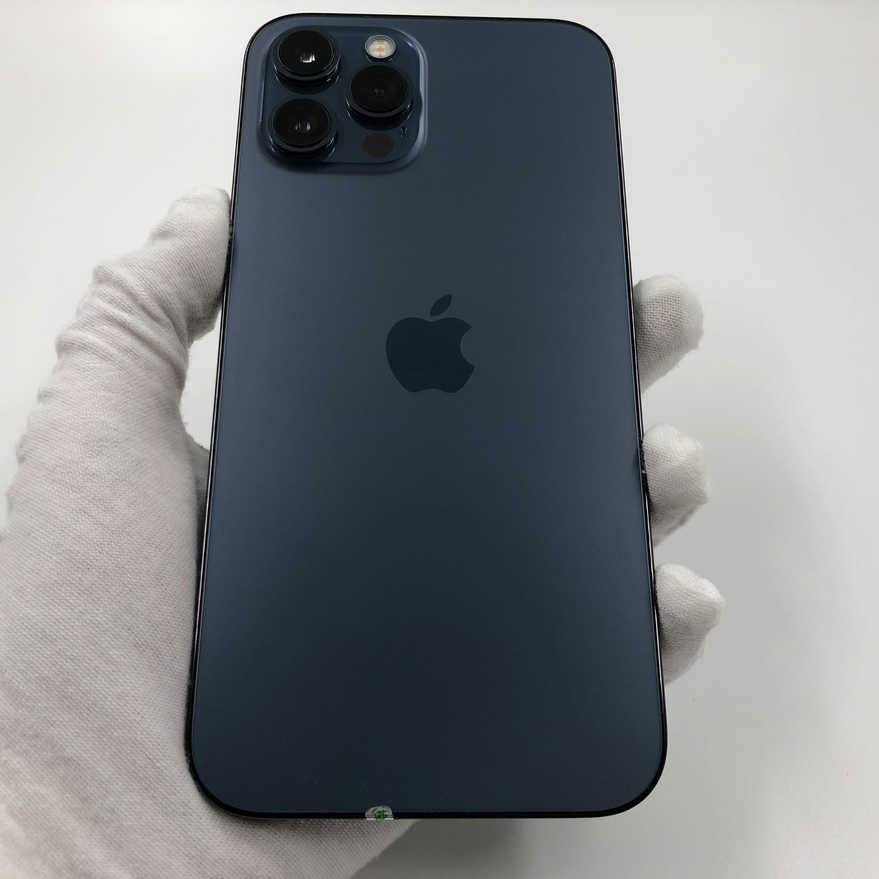 苹果【iPhone 12 Pro Max】5G全网通 海蓝色 256G 国行 8成新 真机实拍官保2021-11-12