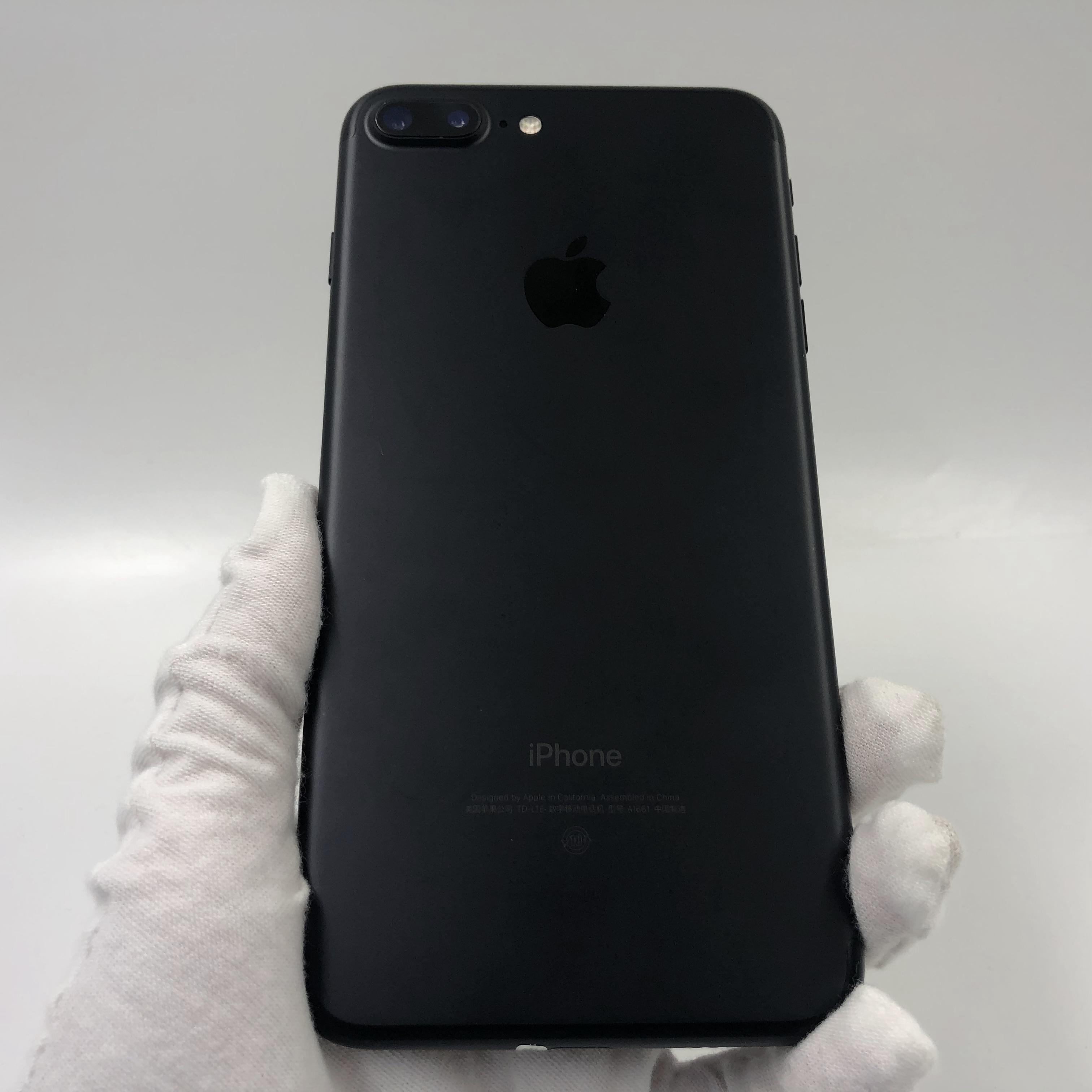 苹果【iPhone 7 Plus】4G全网通 黑色 128G 国行 8成新 真机实拍