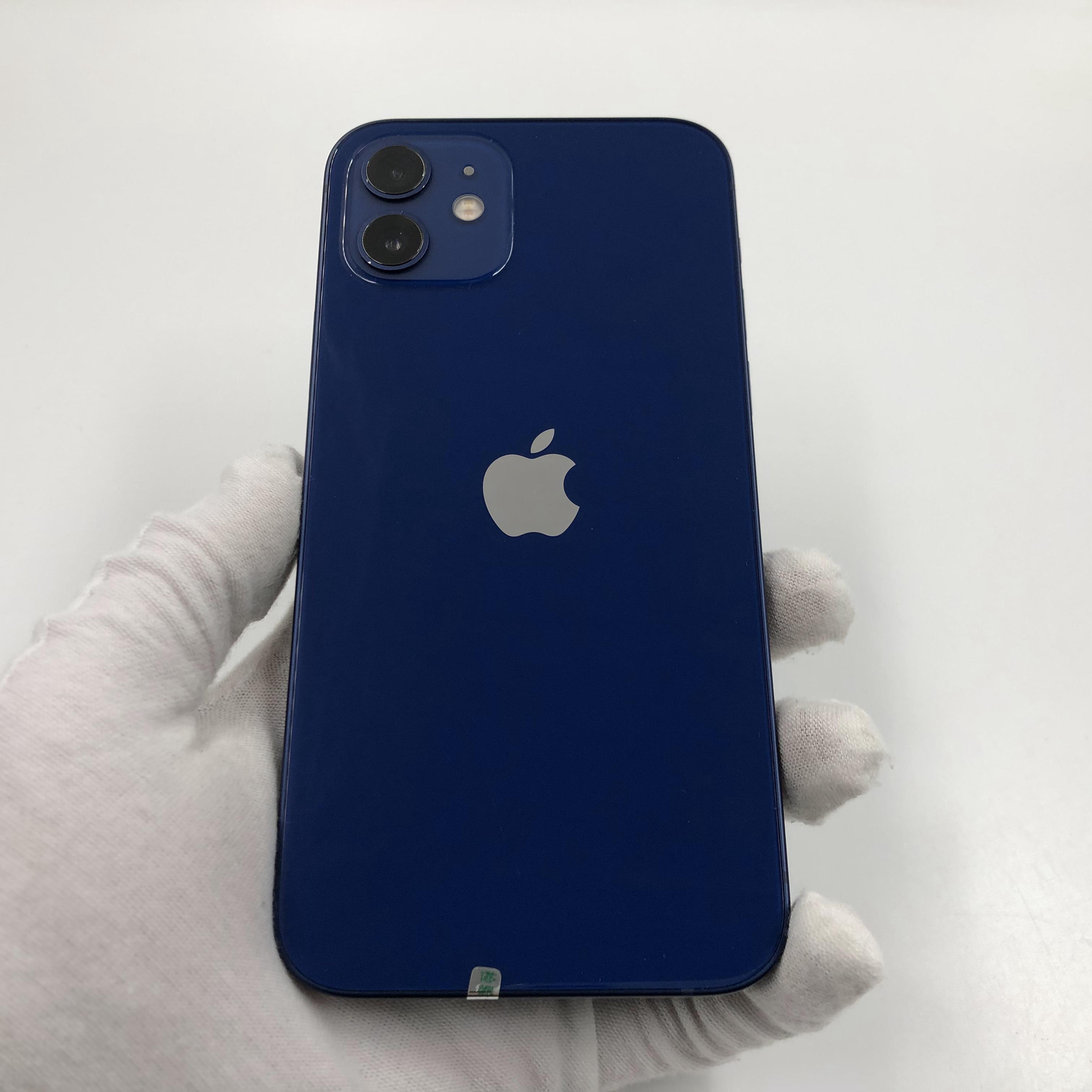 苹果【iPhone 12】5G全网通 蓝色 128G 国行 95新 真机实拍官保2022-01-21