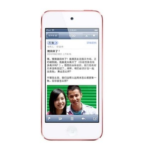 苹果【iPod Touch5】WIFI版 红色 16G 国行 9成新