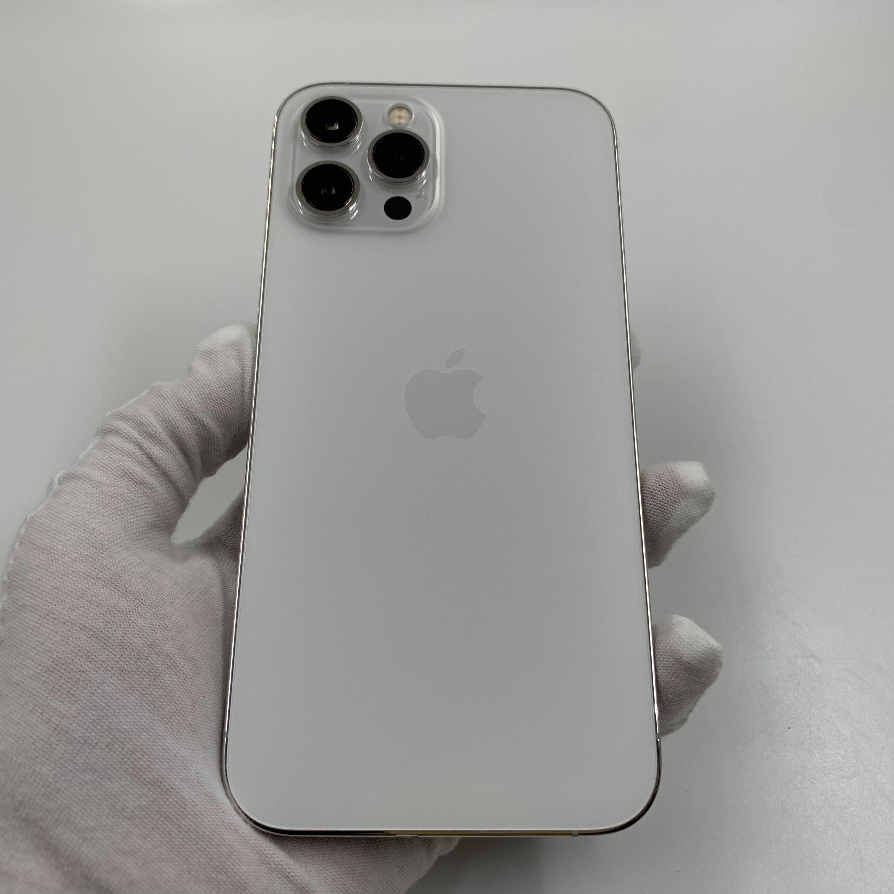 苹果【iPhone 12 Pro Max】5G全网通 银色 256G 国行 9成新 真机实拍官保2021-11-16