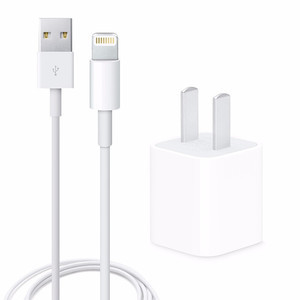 3C数码【苹果充电套装】99新  白色5W充电头+Lightning线1米